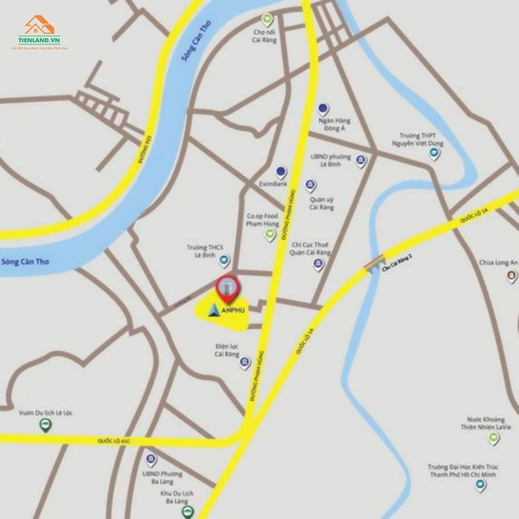 Vị trí dự án Khu dân cư An Phú Cần Thơ