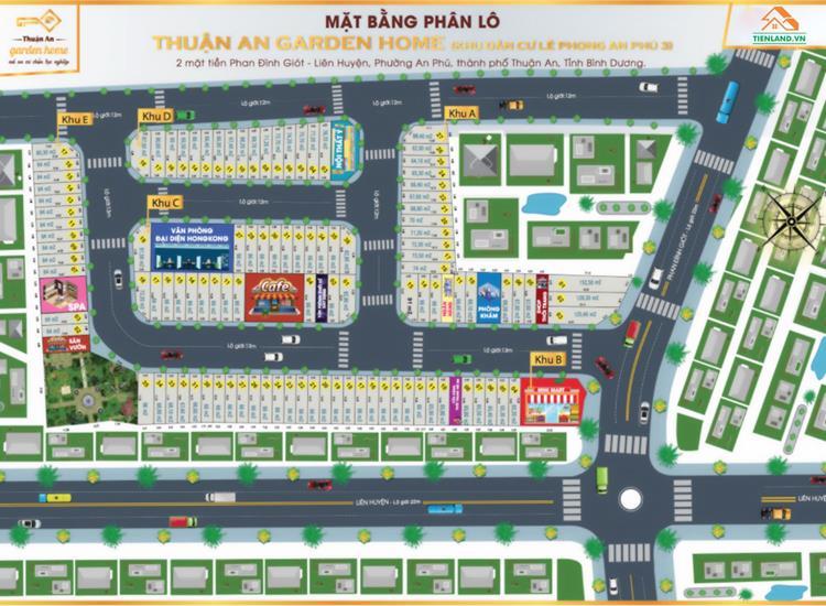 Mặt bằng tổng thể dự án Thuận An Garden Home