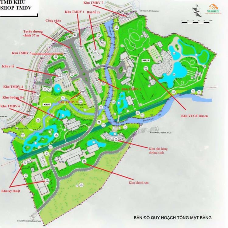 Mặt bằng dự án đất nền Vinpearl Tuyên Quang