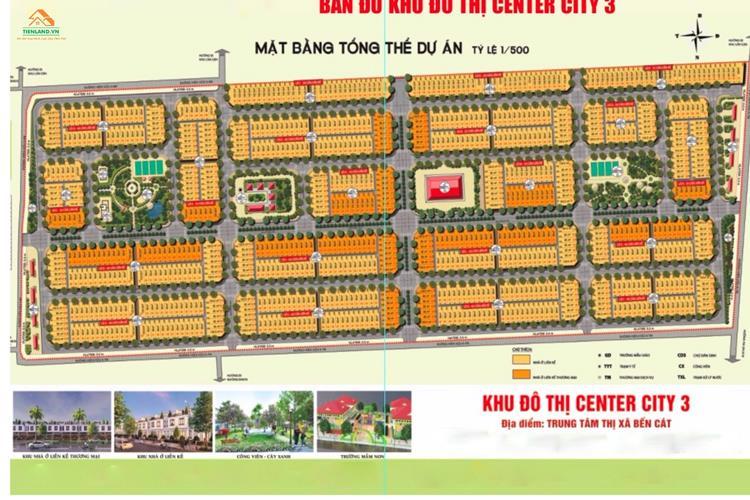 Mặt bằng dự án Center City 3 Bàu Bàng