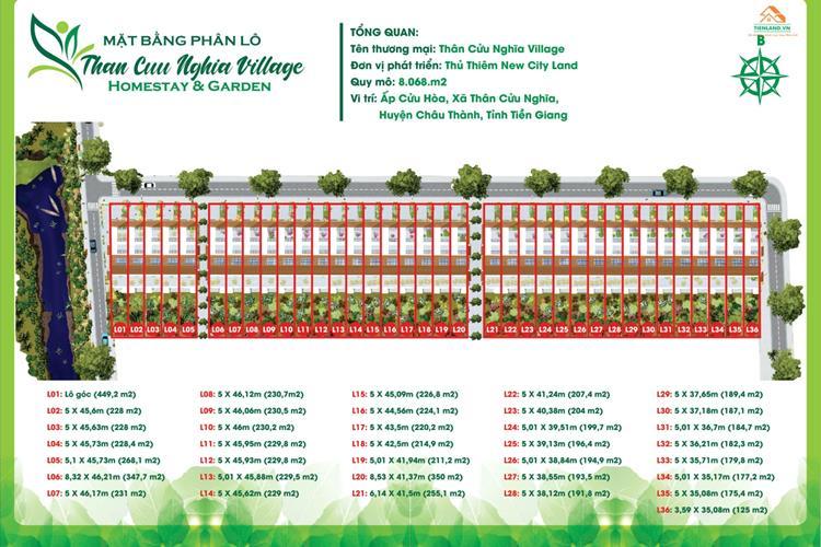 Mặt bằng tổng thể dự án Thân Cửu Nghĩa Village