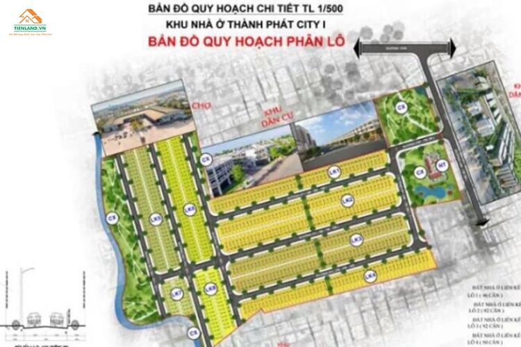 Mặt bằng dự án Thành Phát City 1 Bình Dương