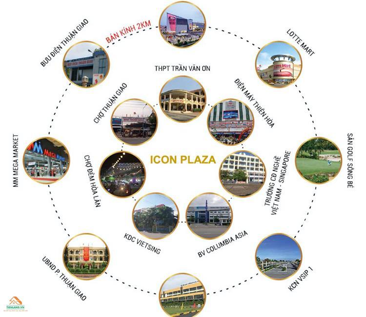 Tiện ích ngoại khu dự án Icon Plaza Apartment Bình Dương