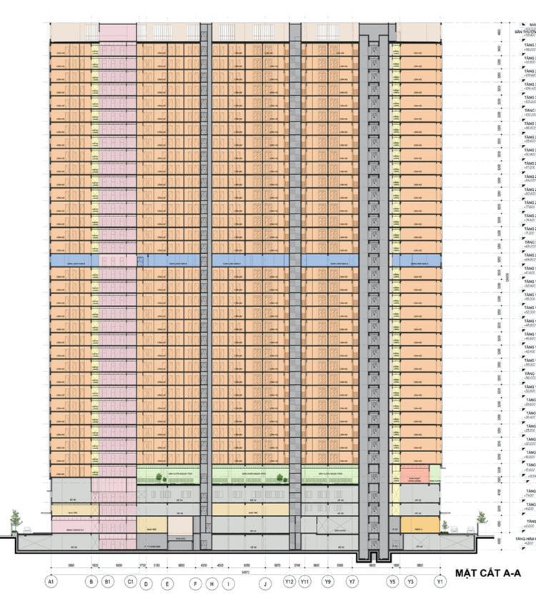 Mặt bằng dự án block B Opal Skyline