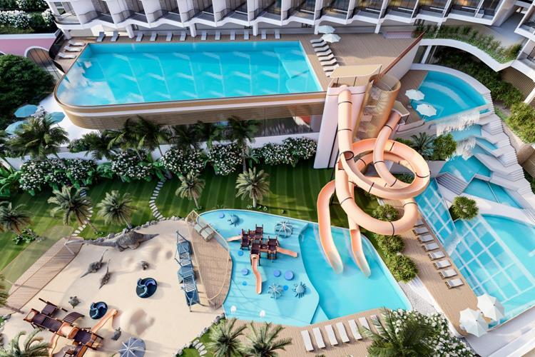 Hồ bơi với thiết kế độc đáo tại dự án
