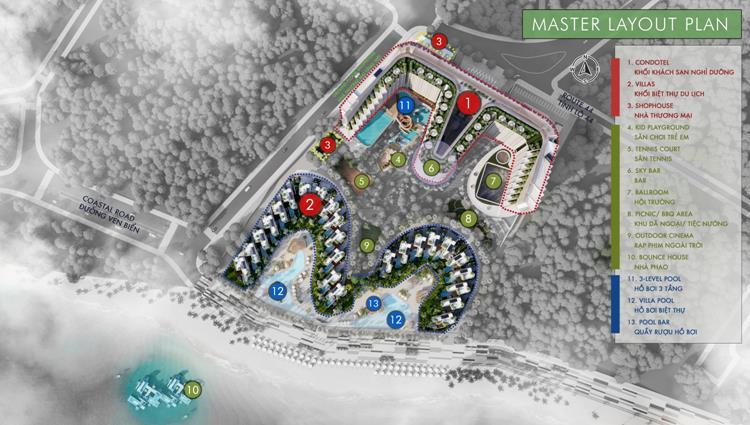 Layout của dự án Charm Resort Long Hải