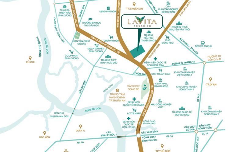 Vị trí khu căn hộ Lavita Thuận An