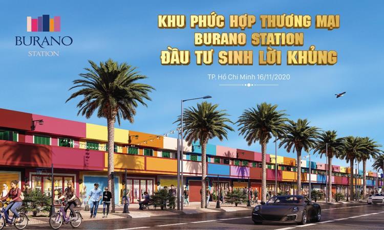 Phối cảnh khu phức hợp thương mại Burano Station