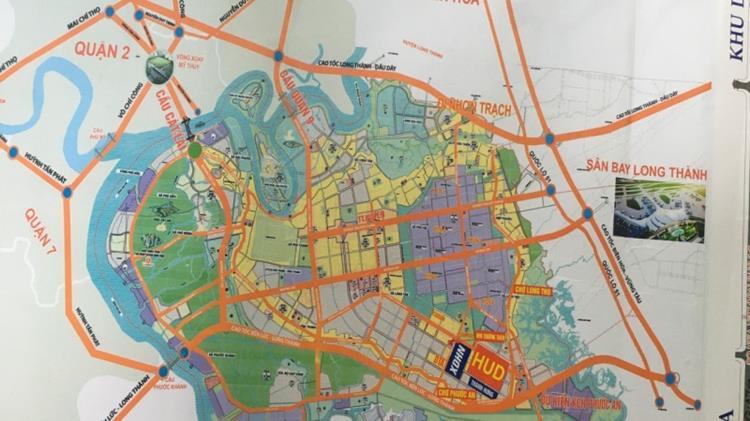 Vị trí khu đô thị Hud Nhơn Trạch
