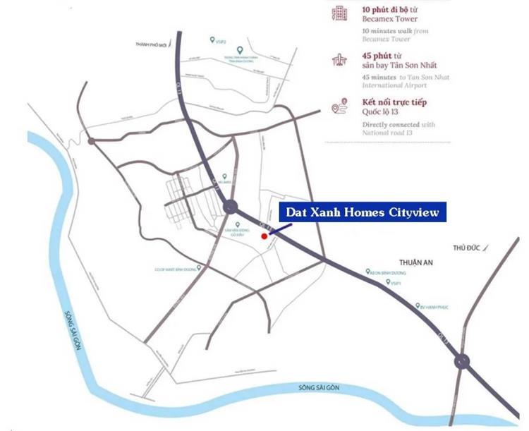 Vị trí khu căn hộDat Xanh Homes CityView