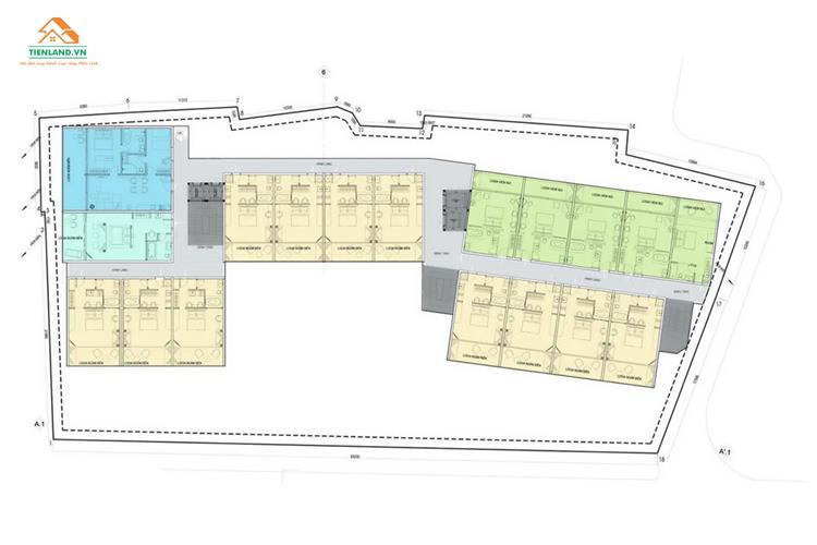 Mặt bằng của dự án Léman Cap Residence