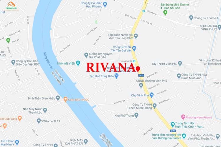 Vị trí dự án căn hộ The Rivana Bình Dương