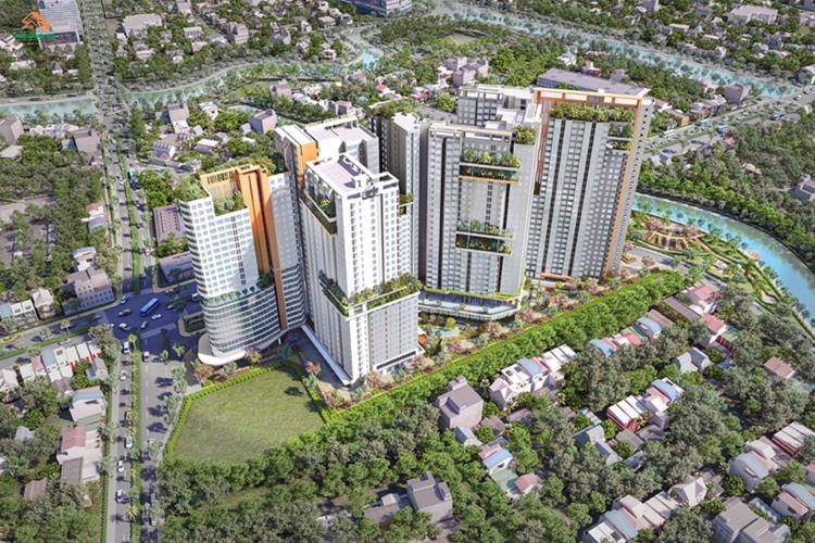 Phối cảnh tổng thể dự án Aster Garden Towers