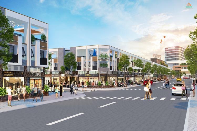 Đường nội khu rộng rãi của dự án Bến Cát City Zone