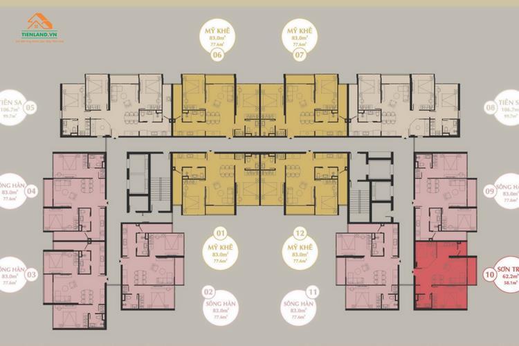 Mặt bằng dự án The Sang Residence Đà Nẵng