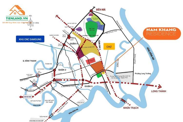 Vị trí đầy tiềm năng của Nam Khang Residence