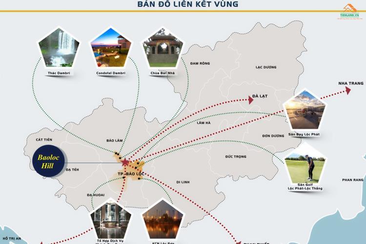Vị trí dự án Bảo Lộc Park Hill Lâm Đồng