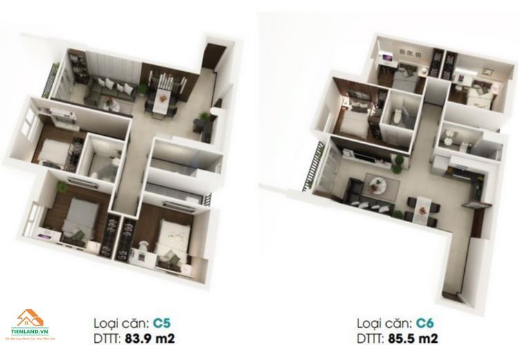 Mẫu thiết kế căn hộ dự án LDG River Thủ Đức