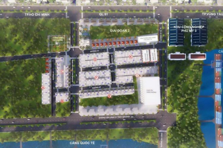 Mặt bằng tổng thể dự án Phú Mỹ Central Port