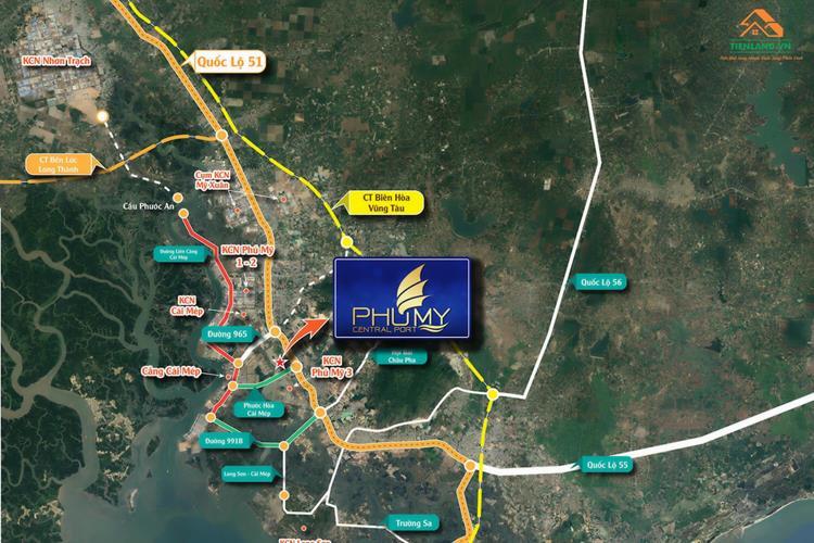 Vị trí dự án Central Port Bà Rịa - Vũng Tàu