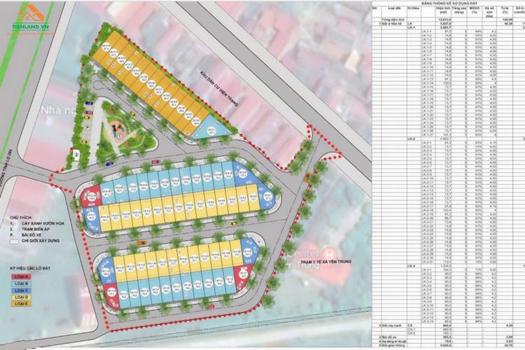Mặt bằng dự án Yên Trung Residence