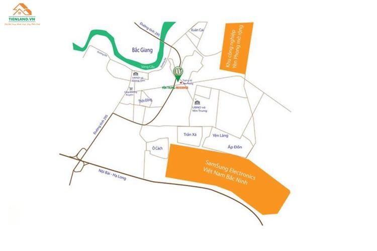 Vị trí dự án Yên Trung Residence