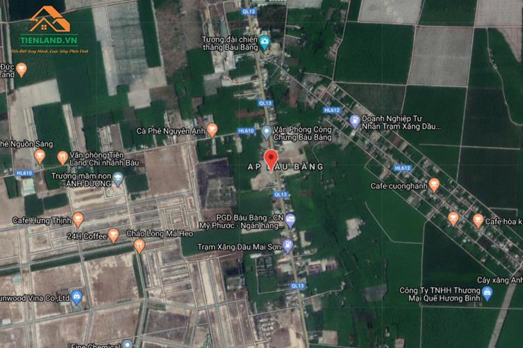 Vị trí dự án Hoàng Cát Center Bàu Bàng