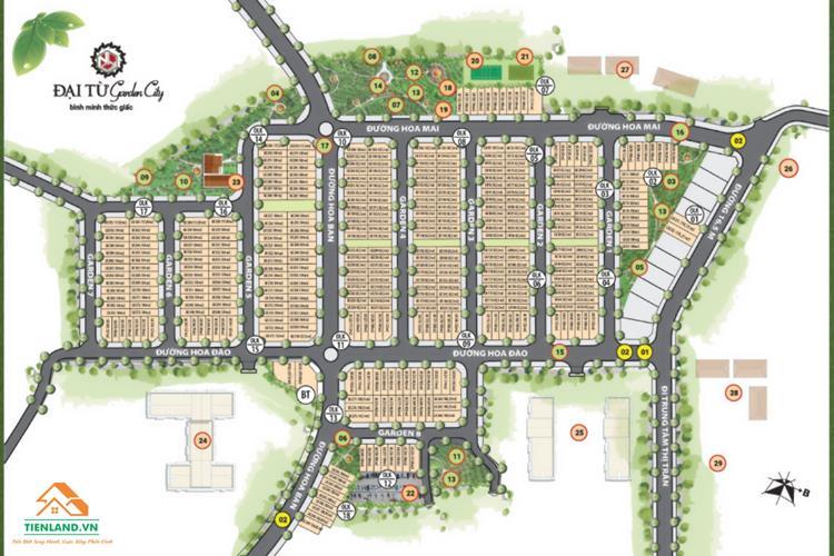 Mặt bằng dự án Đại Từ Garden City Thái Nguyên