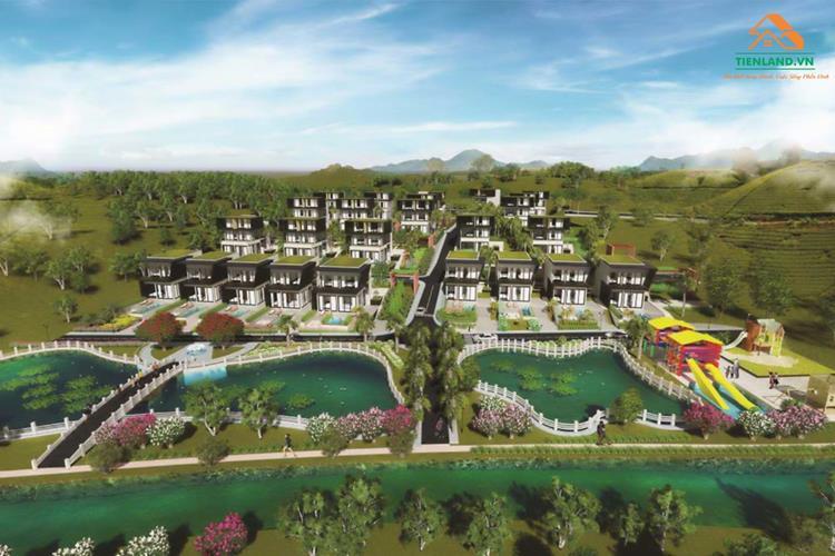 Phối cảnh tổng thể dự án Đambri Hill Village Bảo Lộc